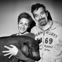 Frédérique et Pierre Ristic avec Mirabelle