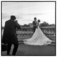 Mariés chinois, Pont Alexandre III, Paris. #Rolleipaul